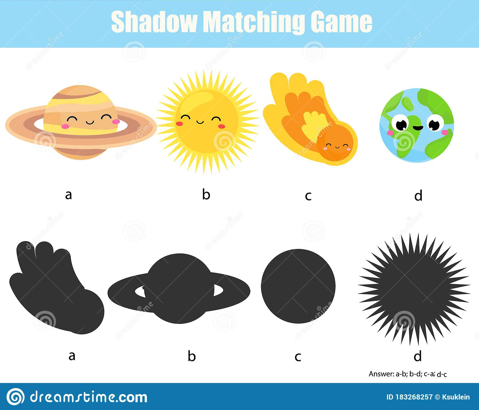 Shadow Matching Game Match Planet With Silhouette Learn