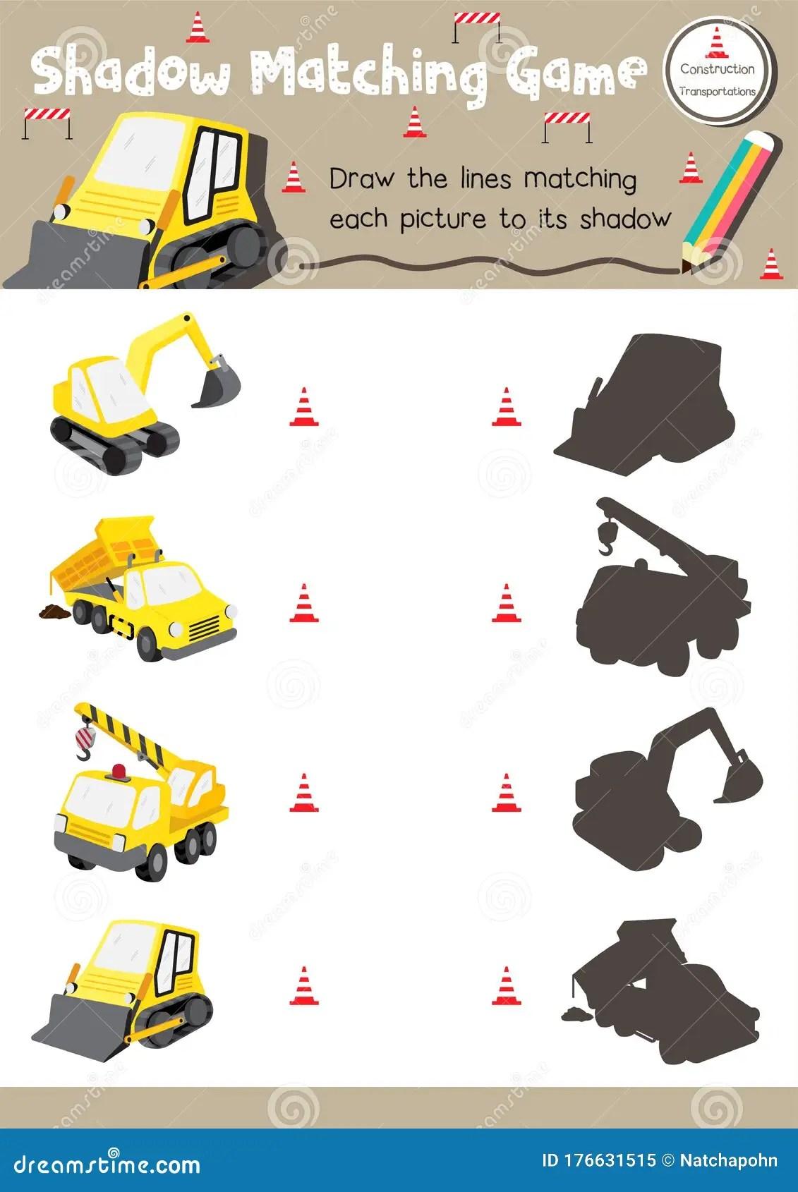 Shadow Matching Game For Preschool Kids Activity Worksheet