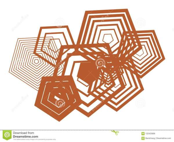 Shape Of Pentagon, Abstract Geometric Background Pattern ...