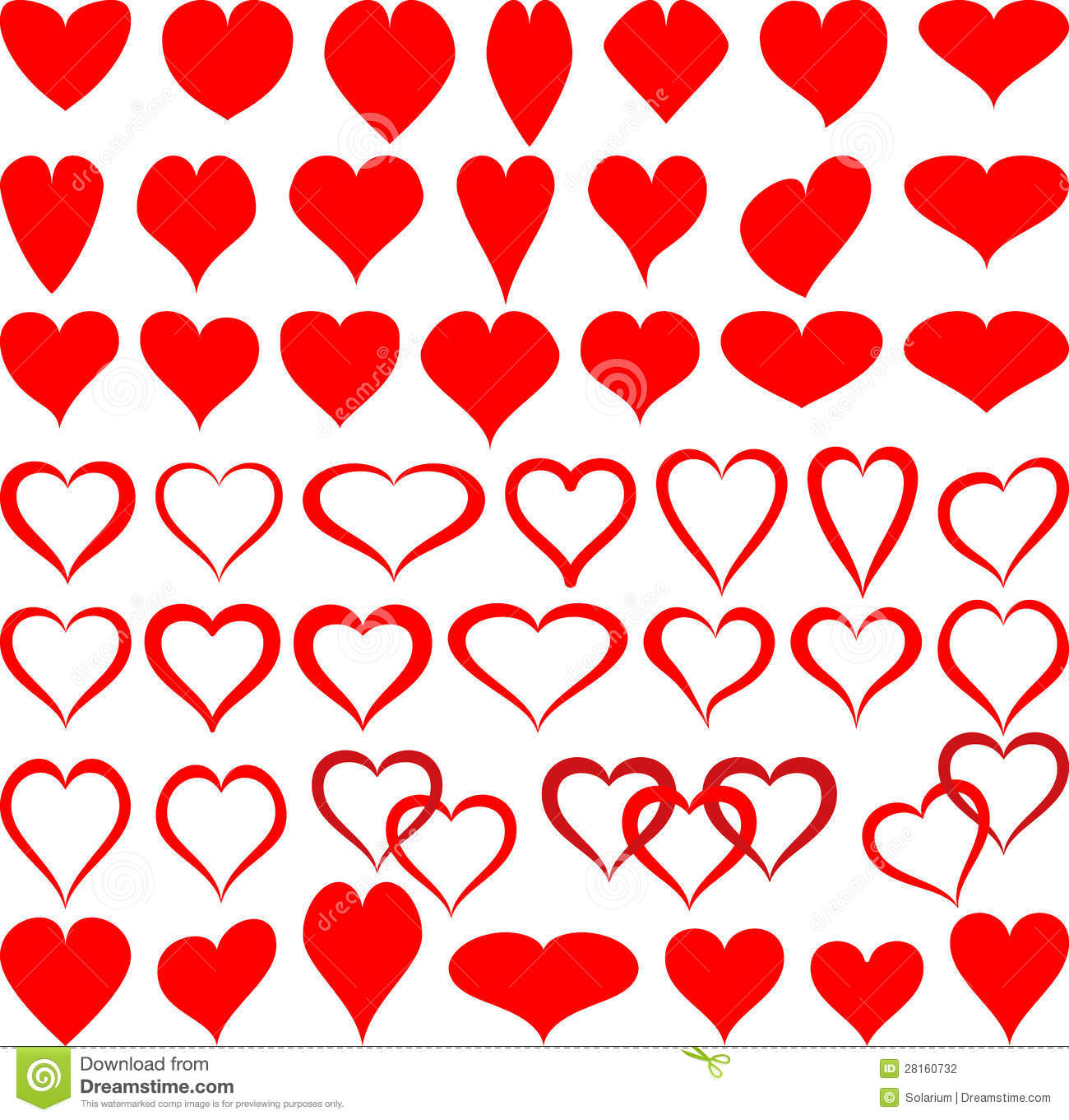 Shapes Of Hearts Stock Vector Illustration Of Valentine