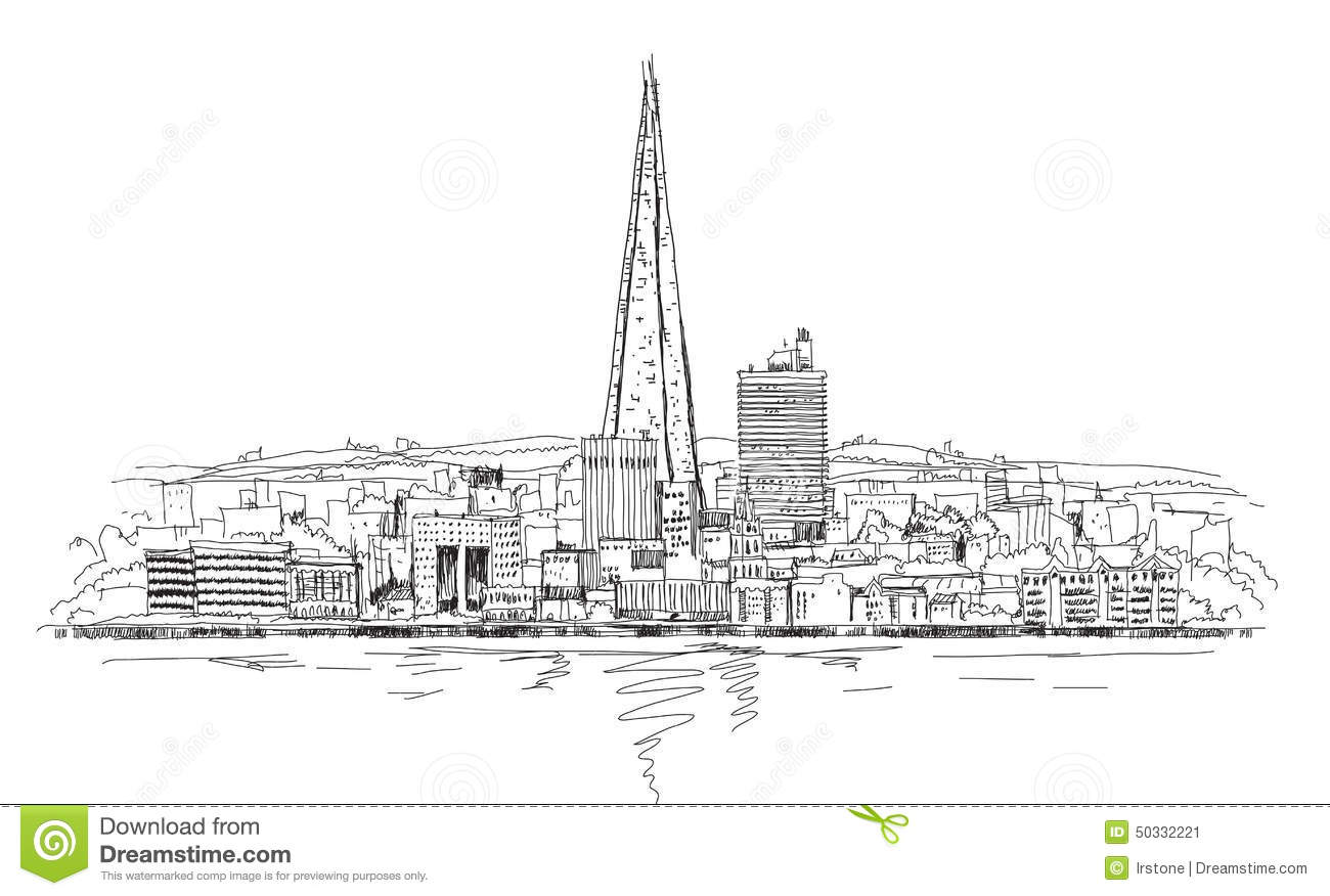 Shard Of Glass Sketch Collection Illustration Stock