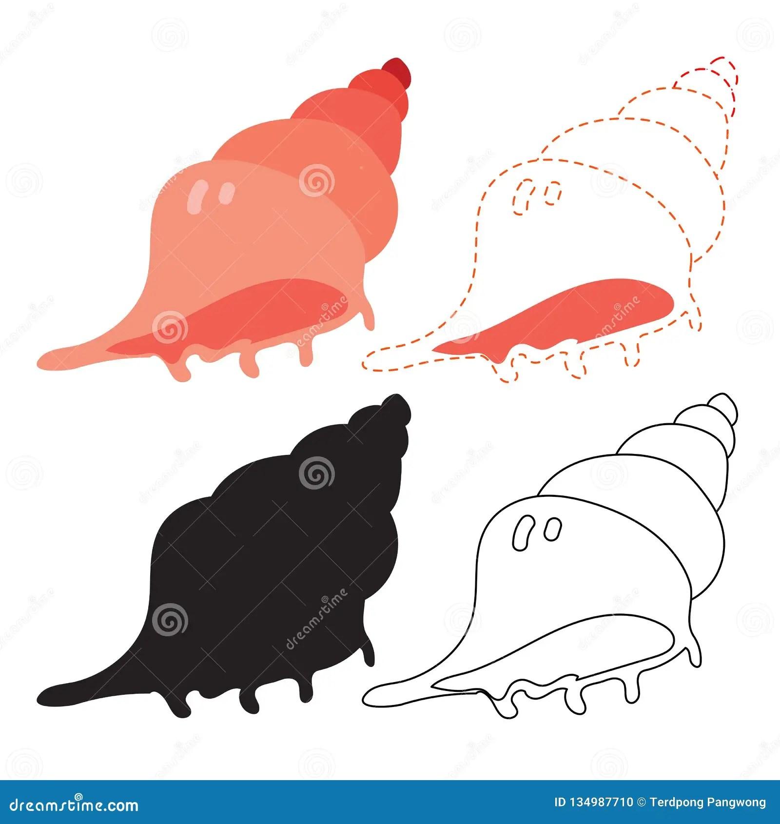 Shell Worksheet Vector Design Stock Illustration