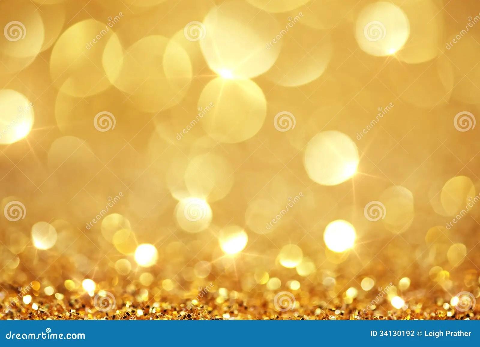 Shiny Golden Lights Stock Photography Image 34130192