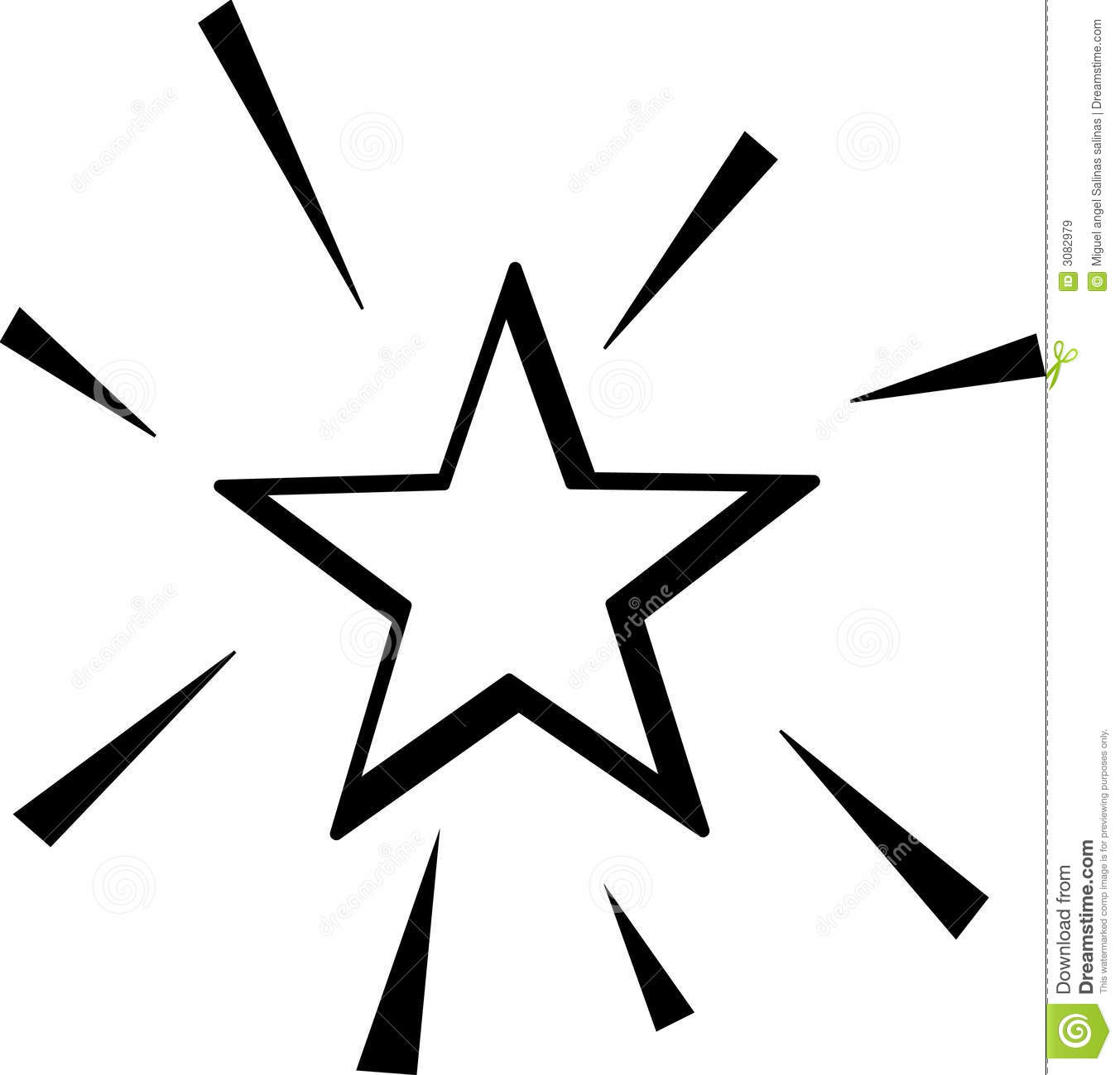 Shiny Star Vector Illustration Royalty Free Stock Images