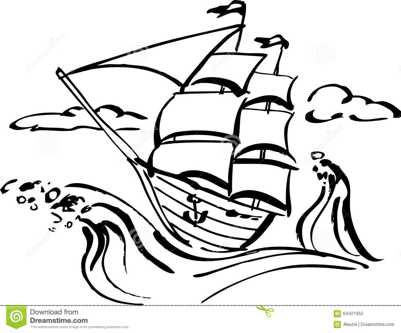 Ship Clip Art Stock Vector