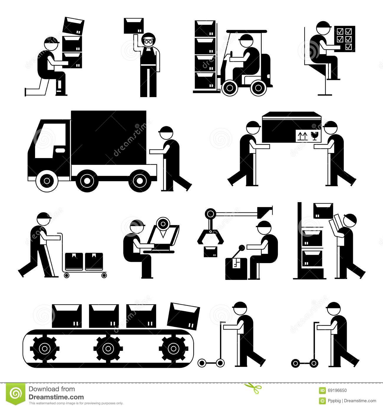 Shipping And Supply Chain Worker Stock Illustration