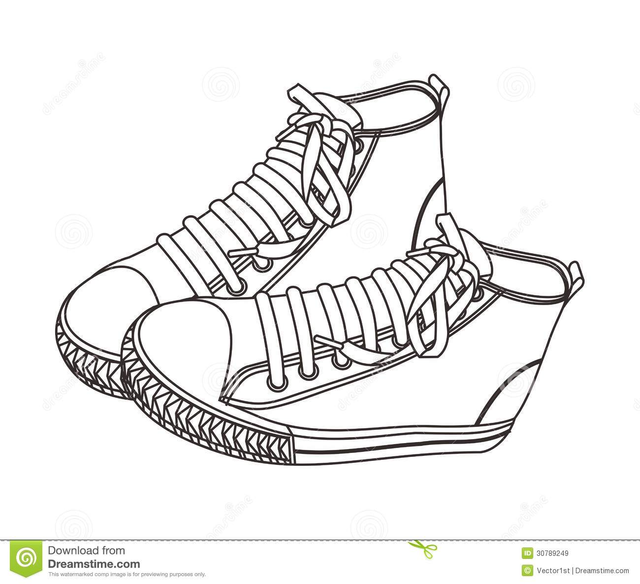 Shoe High Hand Draw Royalty Free Stock Images