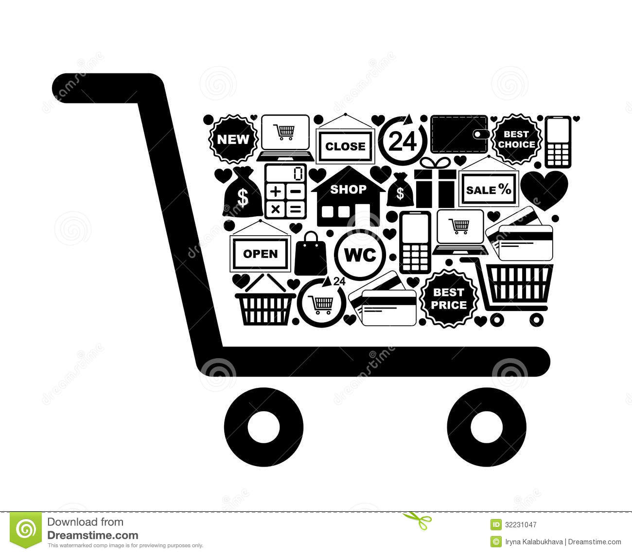 Shopping Cart Stock Vector Illustration Of Icon Internet