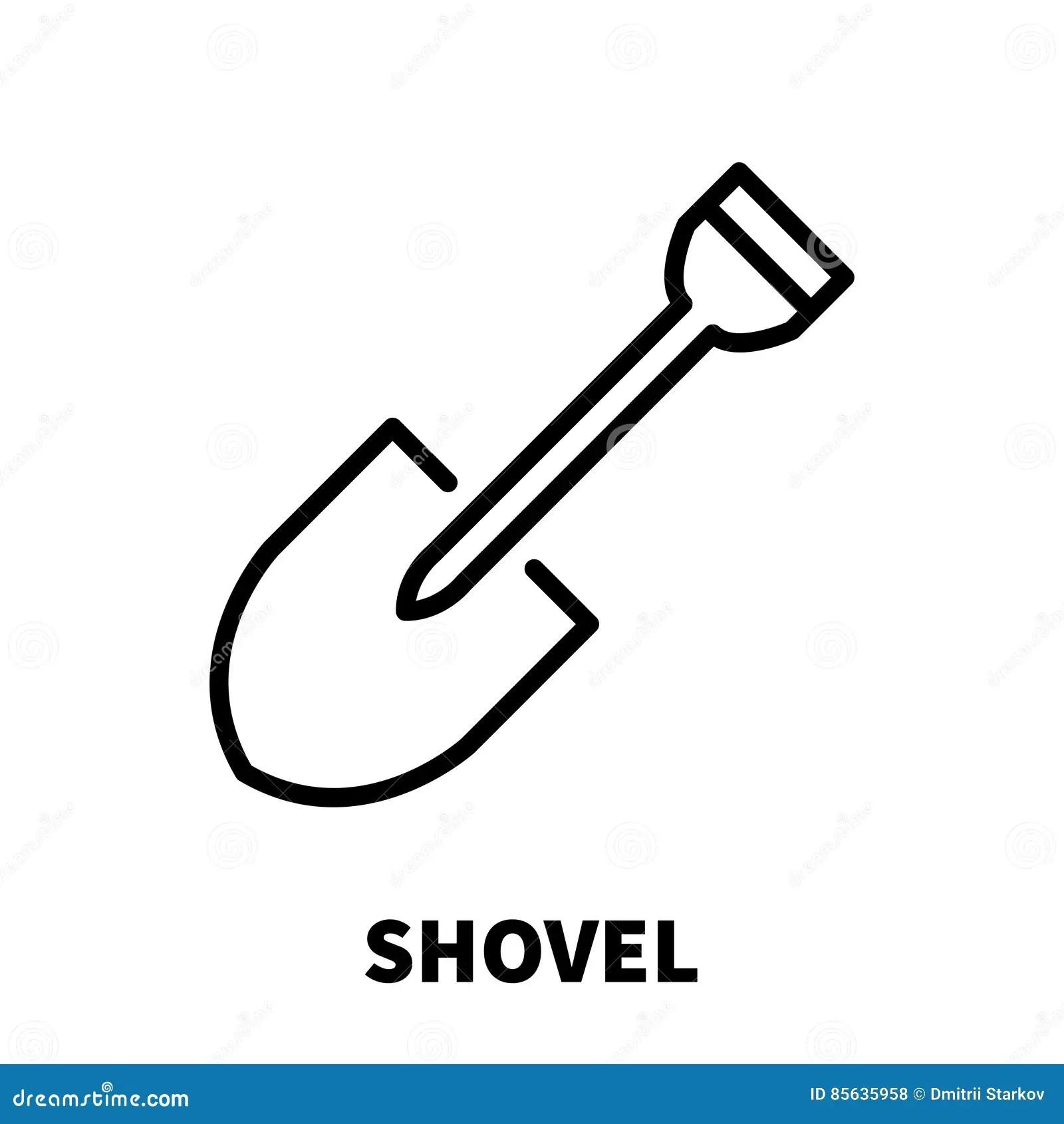 Shovel Logo Design Vector Template Digger Symbol Logotype