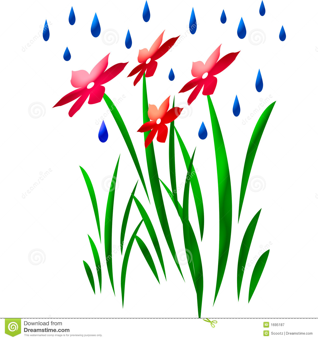 Shower On Flower Art Stock Illustration Illustration Of Grass 1695187
