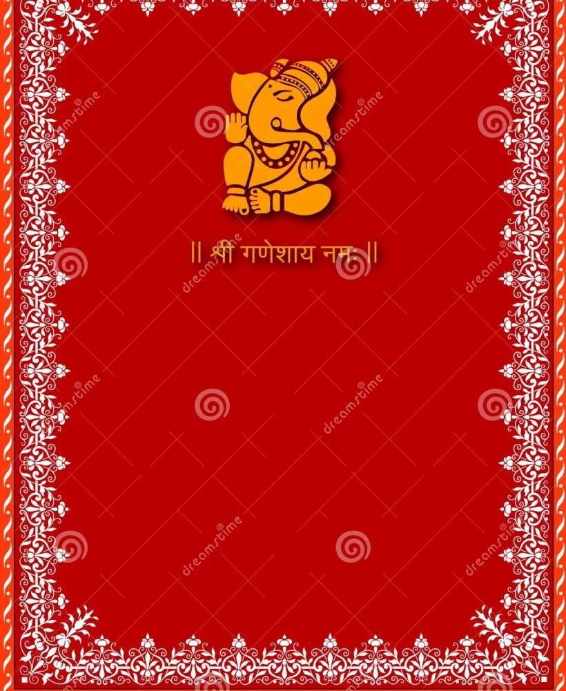 Shree Ganesha Card Template