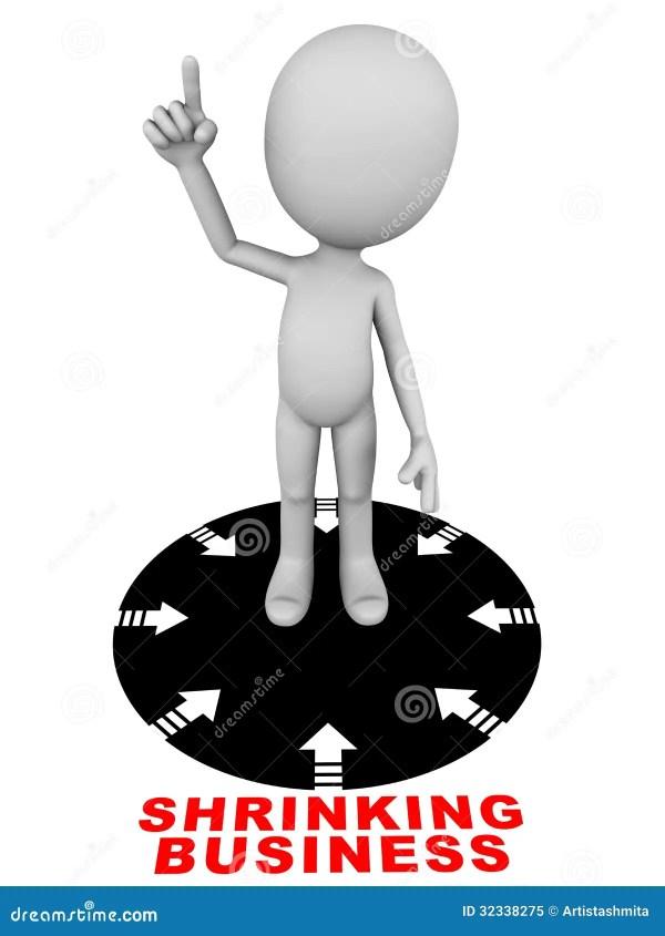 Shrinking Business Royalty Free Stock Photo - Image: 32338275