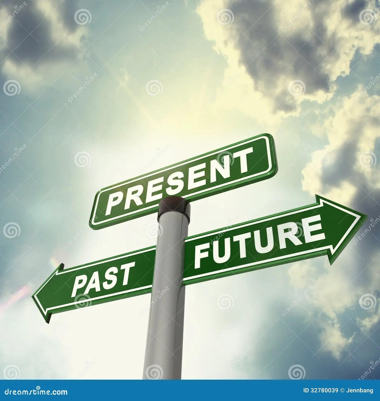 Signboard Past Present Future Stock Illustrations 47