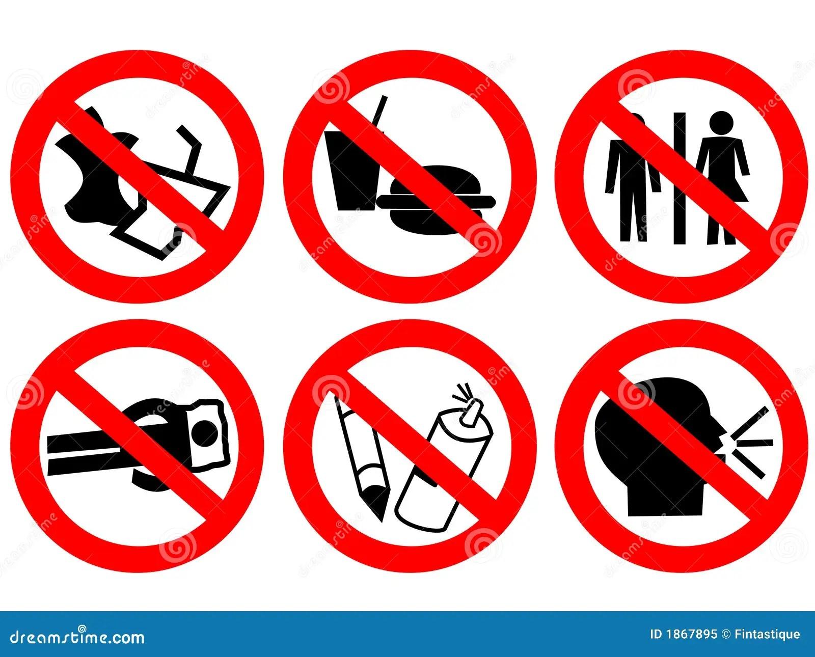 Signe Interdit Parespace Public Photo Libre De Droits