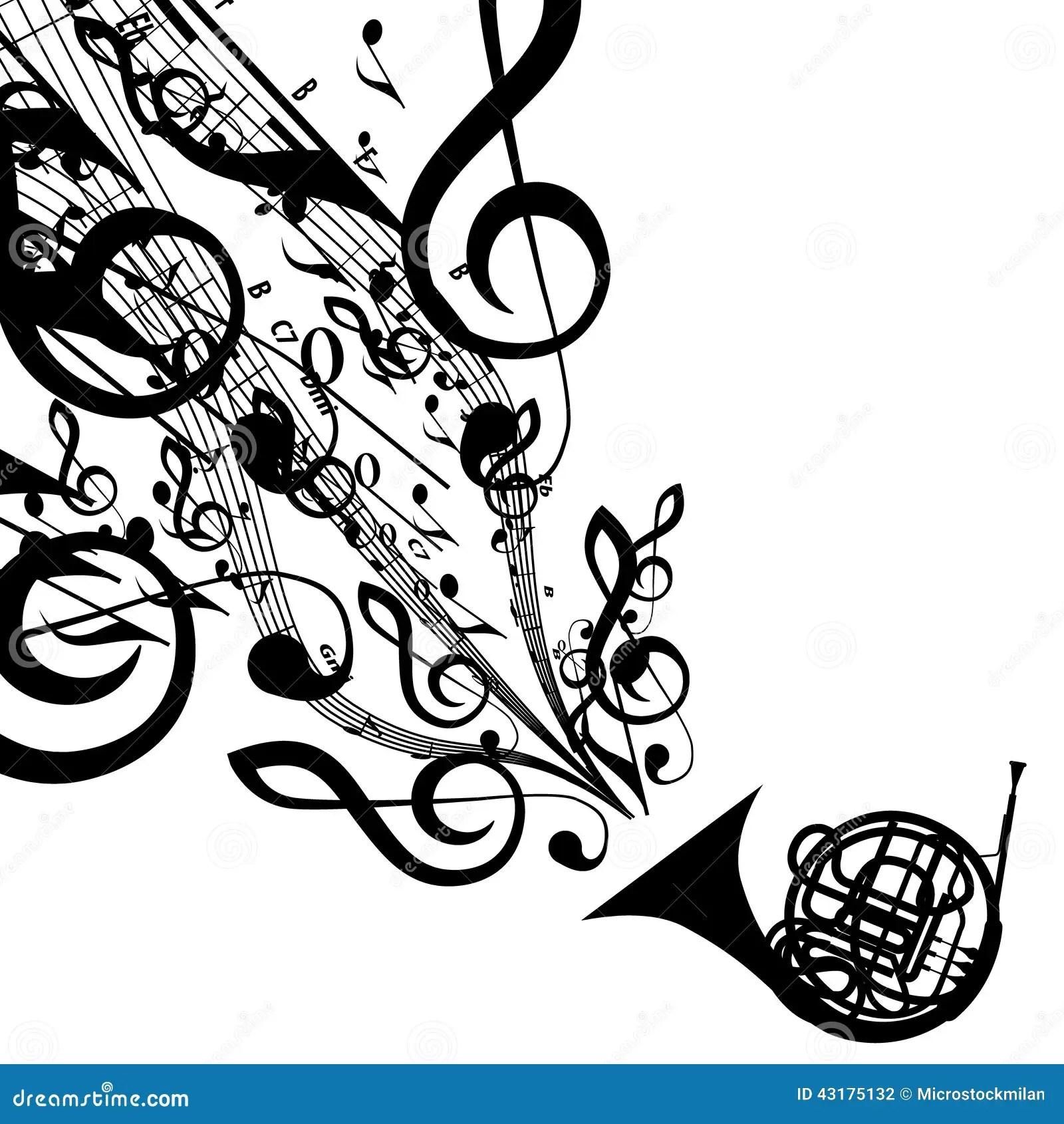 Silhouette De Vecteur De Cor D Harmonie Avec Des Symboles