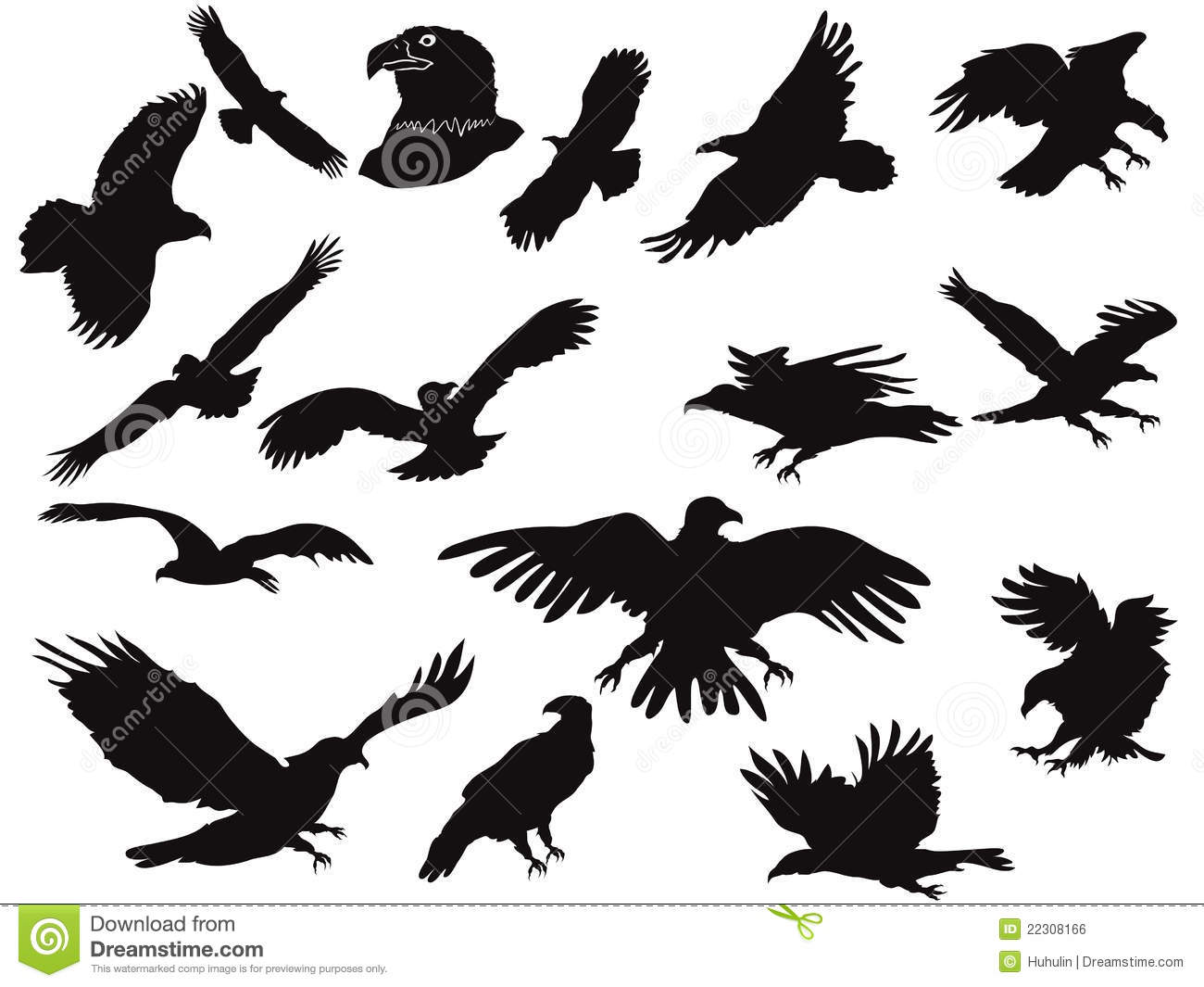 Silhouette Of Eagles Royalty Free Stock Image