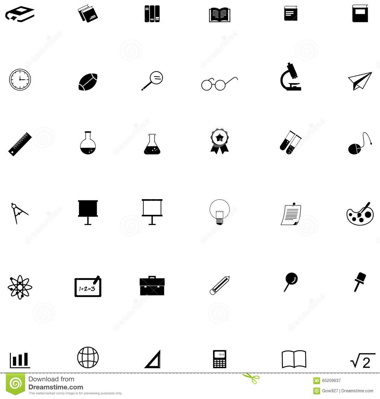 Silhouette Flat Education Academic Icon For Many Subject