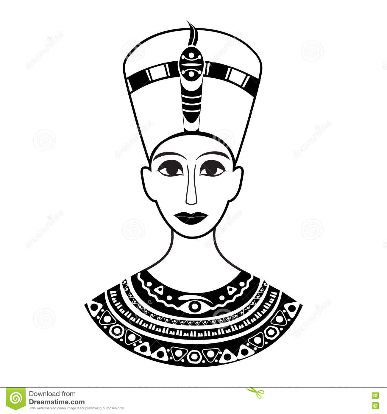 Silhouette From The Front The Ancient Egyptian Queen
