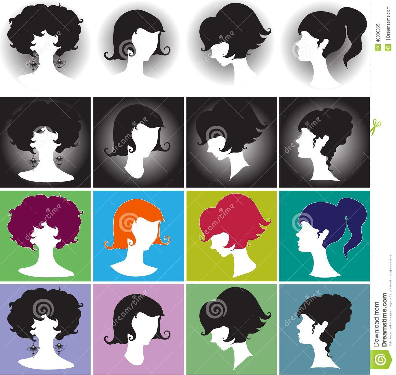 Hair Salon Cartoon Retro Graphics