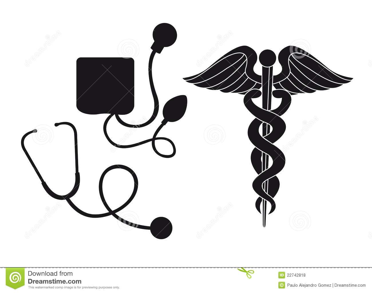 Silhouette Medical Sign Stock Vector Image Of Drawing