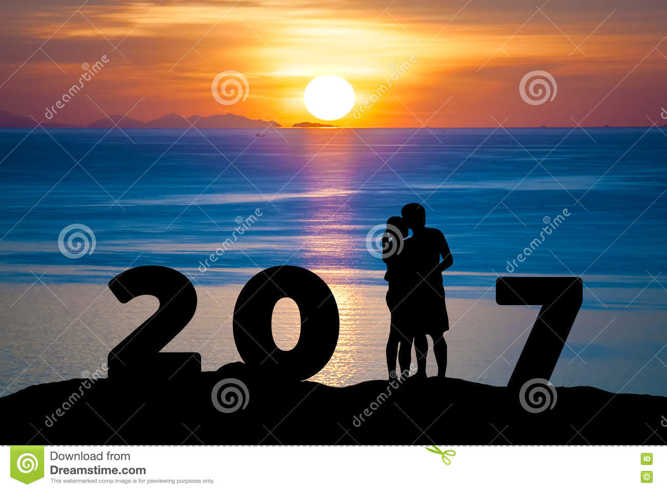 couple happy new year