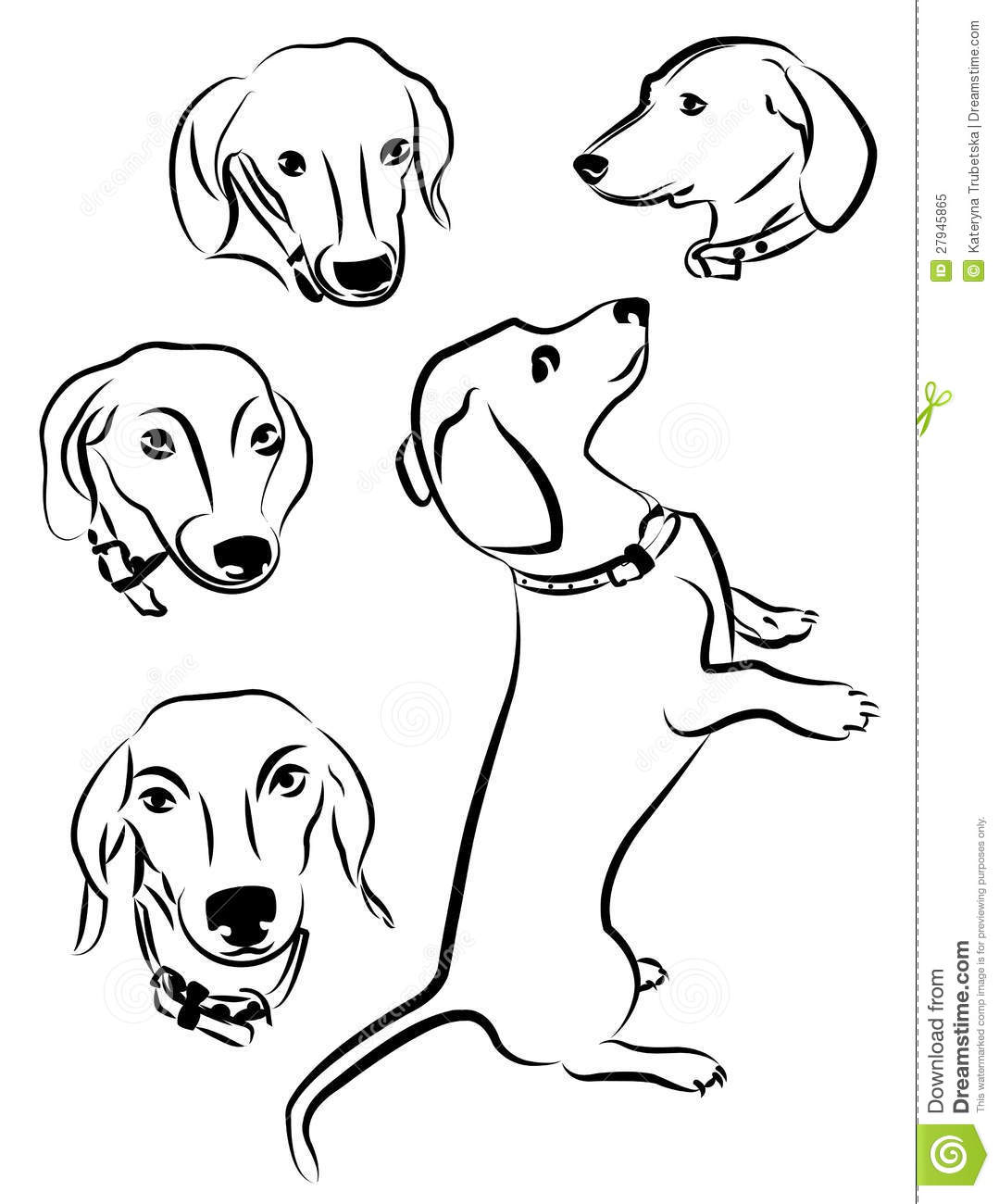 Silhouettes Of Dogs Royalty Free Stock Photo