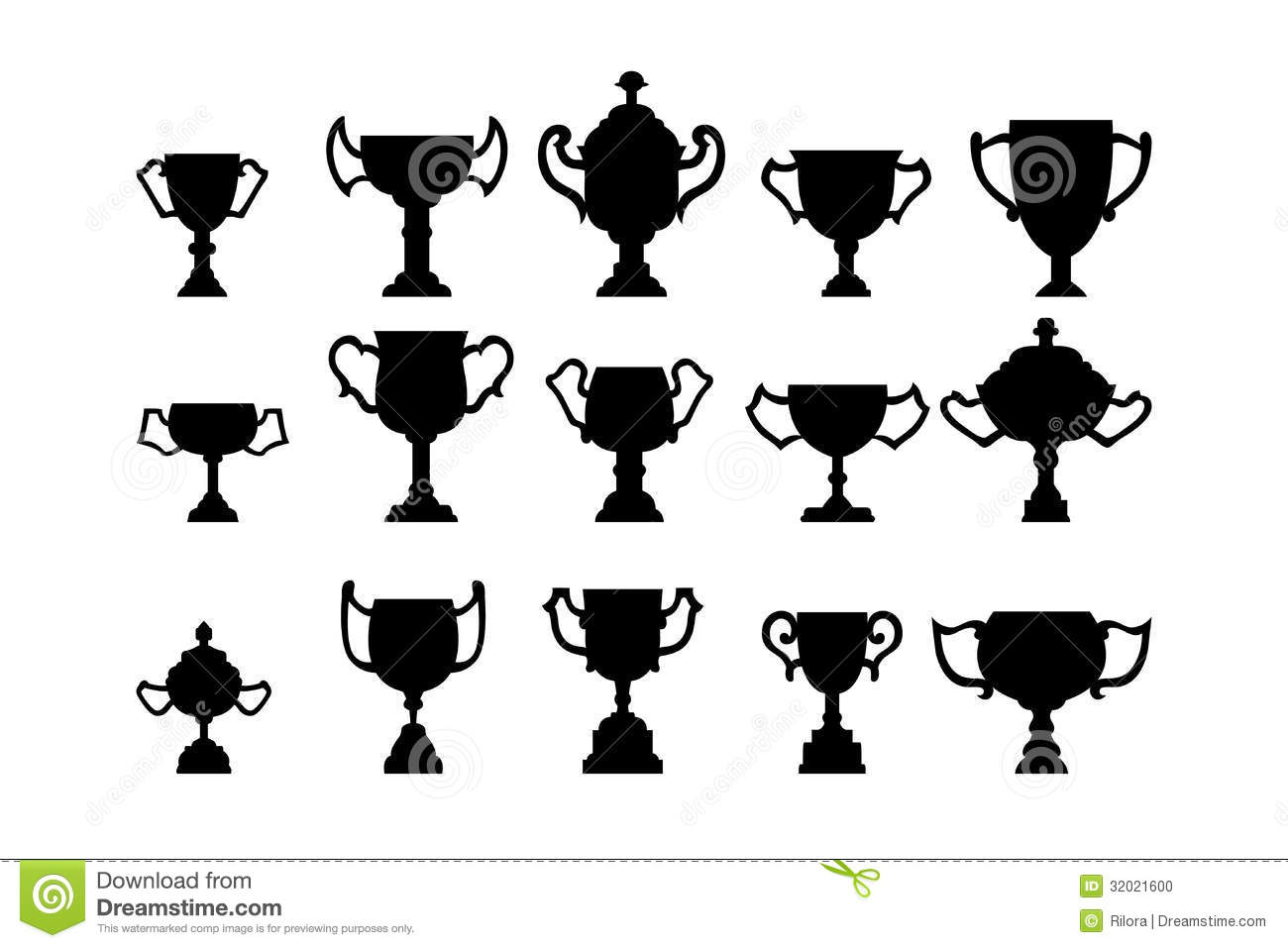 Silhouettes Of Trophies