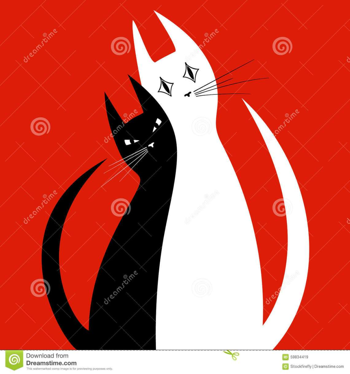 Download Silhouettes Of Two Cats In Love Stock Vector ...