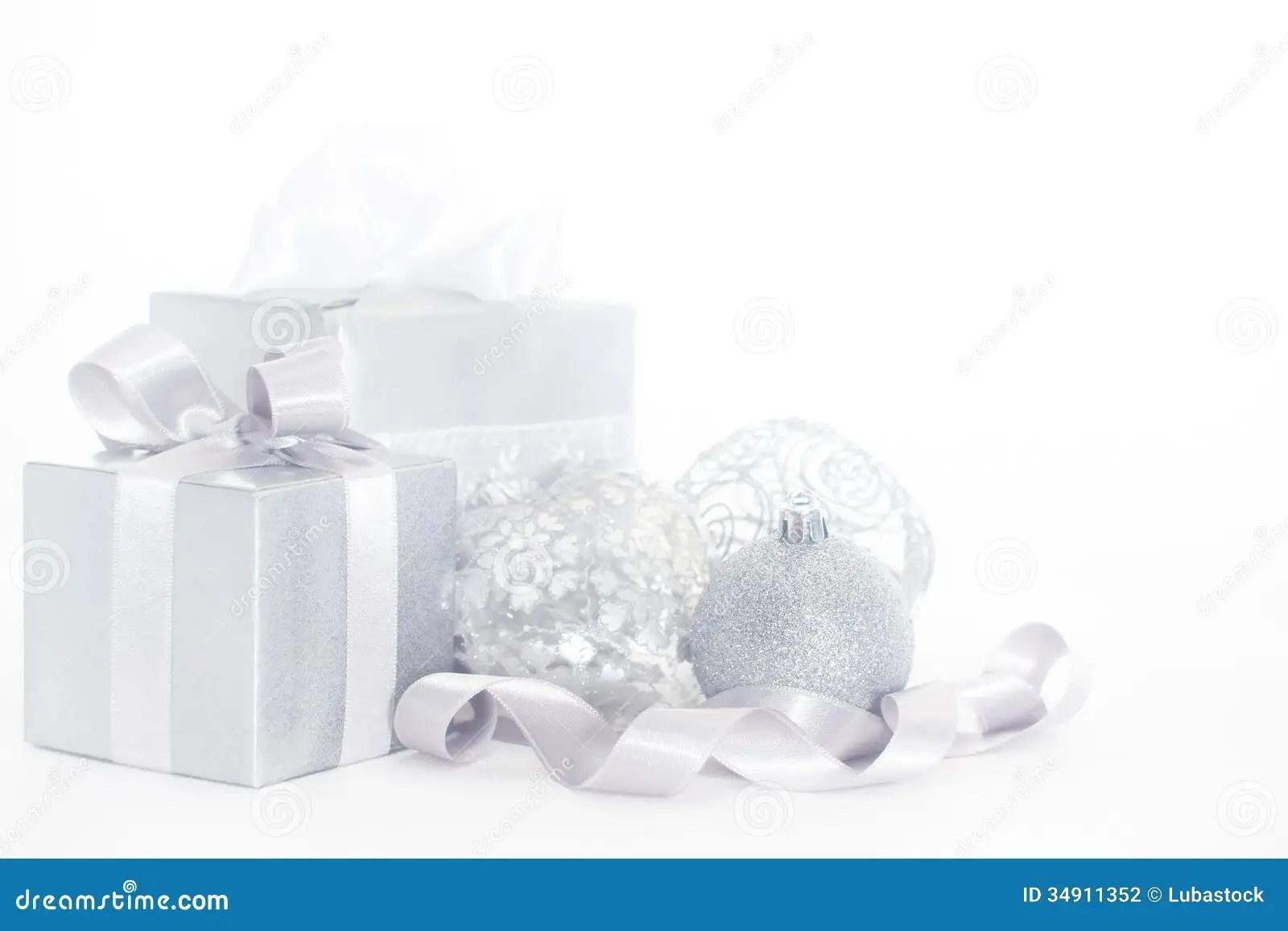 Silver Christmas Card Stock Photography Image 34911352