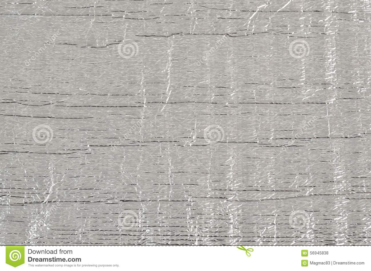 Silver Rough Wrinkle Foil Texture Stock Image