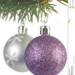 Silver And Purple Christmas Decorations Stock Photo Image Of Celebrating Green 1559040