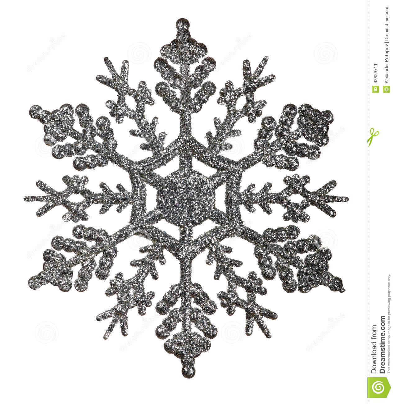 Silver Snowflake Royalty Free Stock Photography