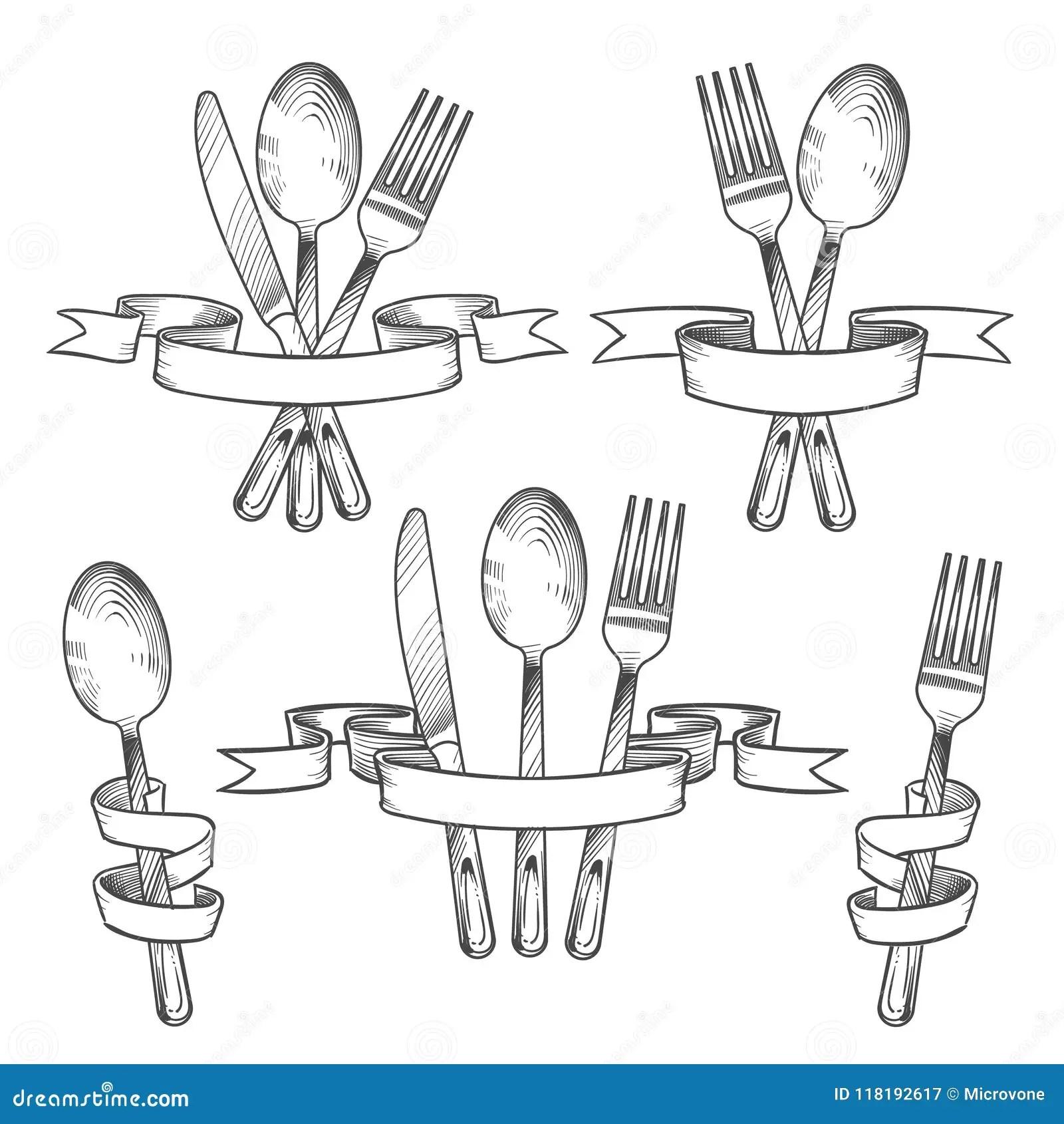 Silverware Cutlery Dinner Table Utensils Knife Spoon