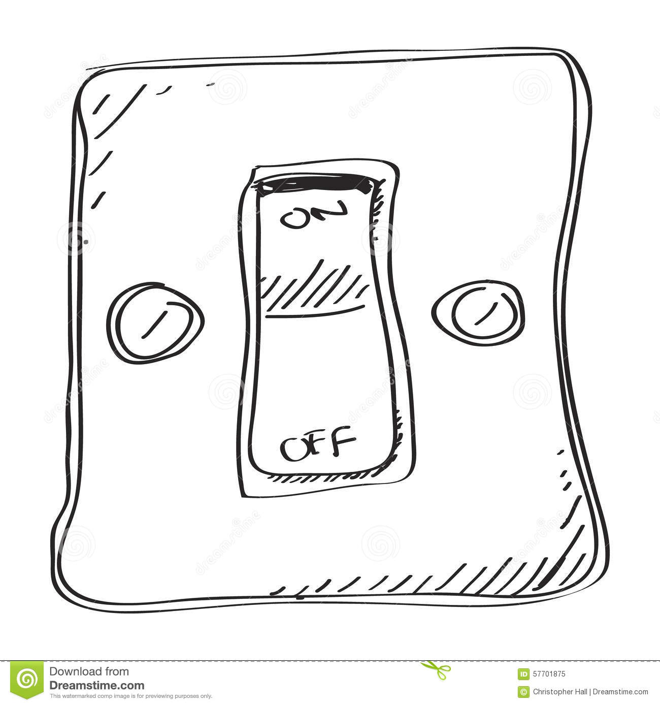 Simple Doodle Of A Switch Stock Vector Image Of Rough
