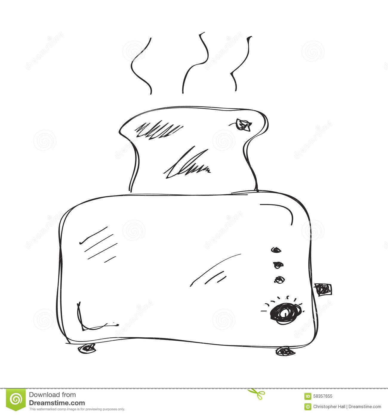 Simple Doodle Of A Toaster Stock Vector Illustration Of Toaster