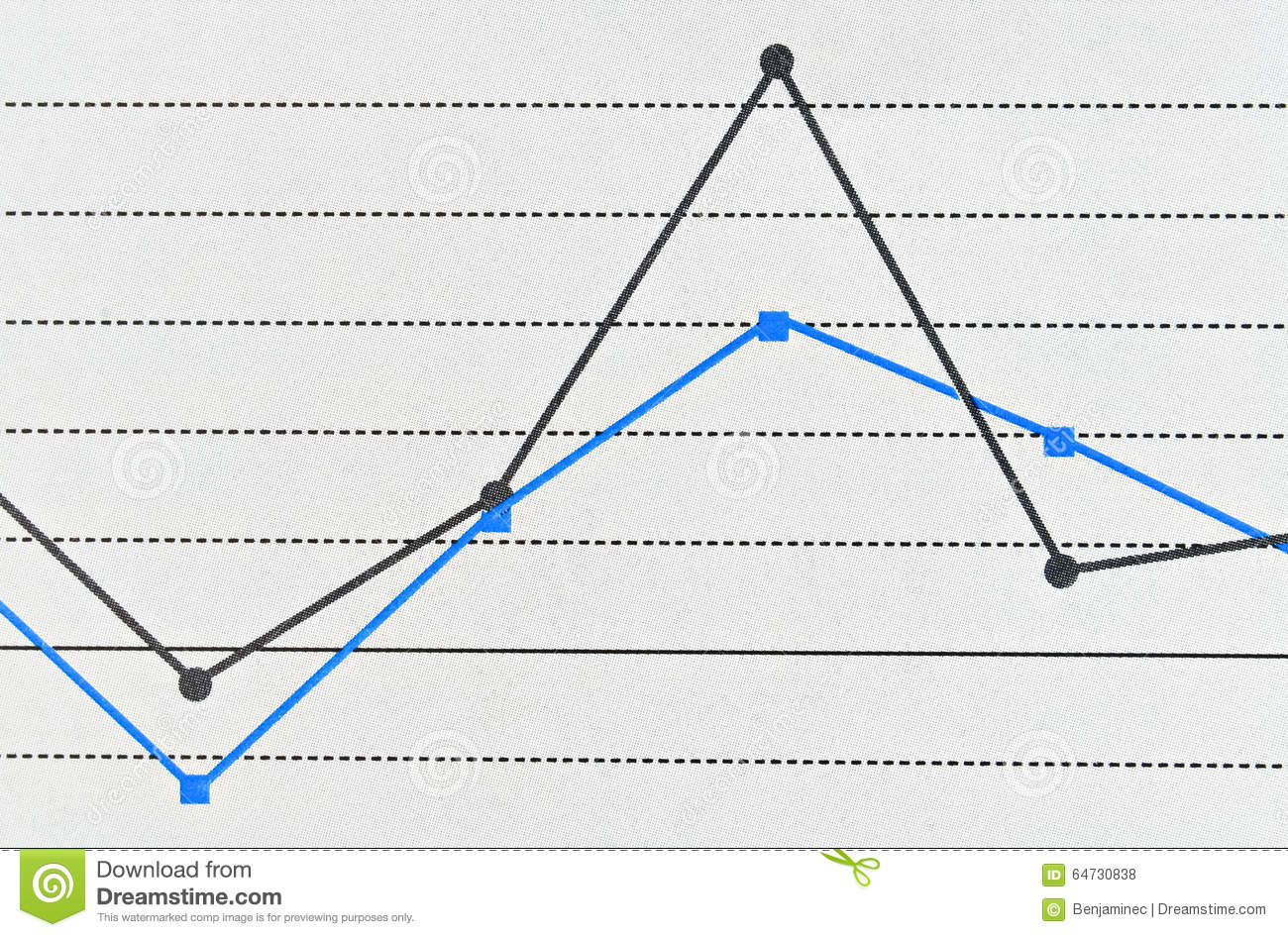 Simple Line Graph Stock Photo Image Of Mathematical