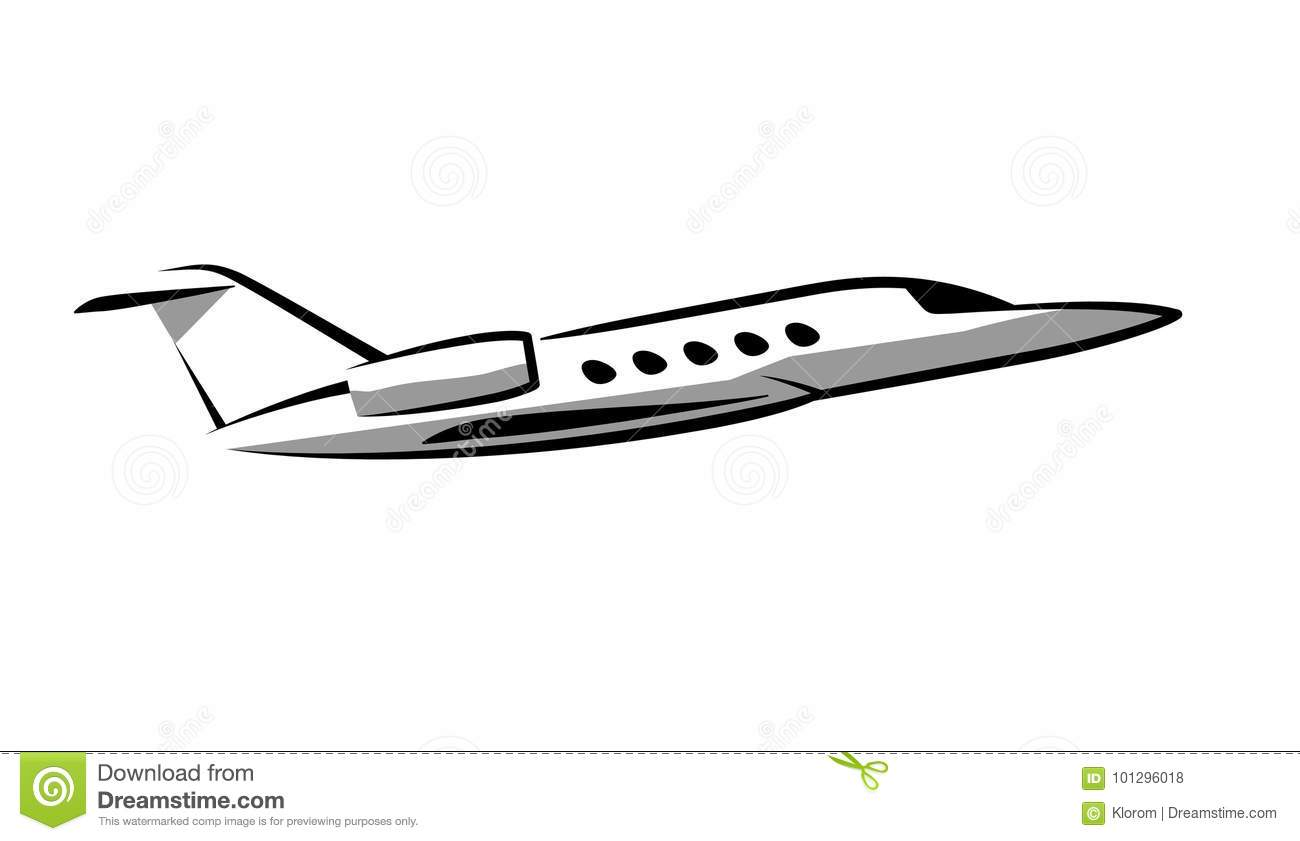 Simple Plane Drawing