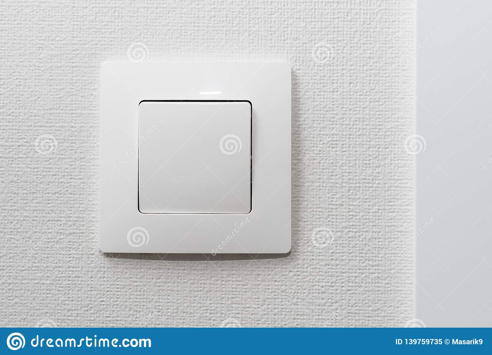 Simple White Light Switch Turn On Or Turn Off The Lights