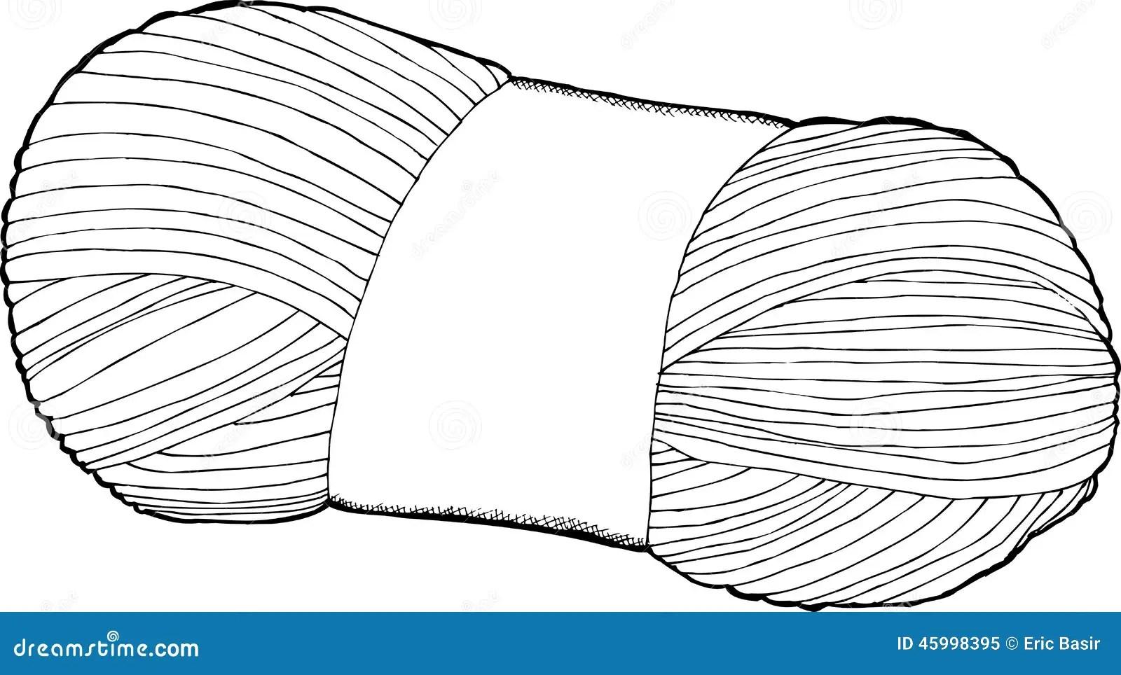 Single Bundle Of Yarn Stock Vector Illustration Of