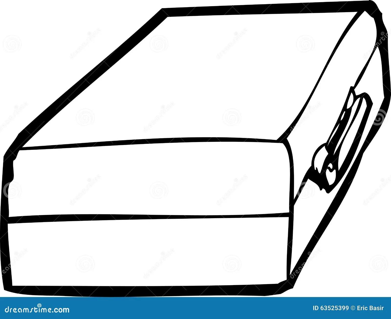 Single Cartoon Briefcase Stock Illustration Illustration