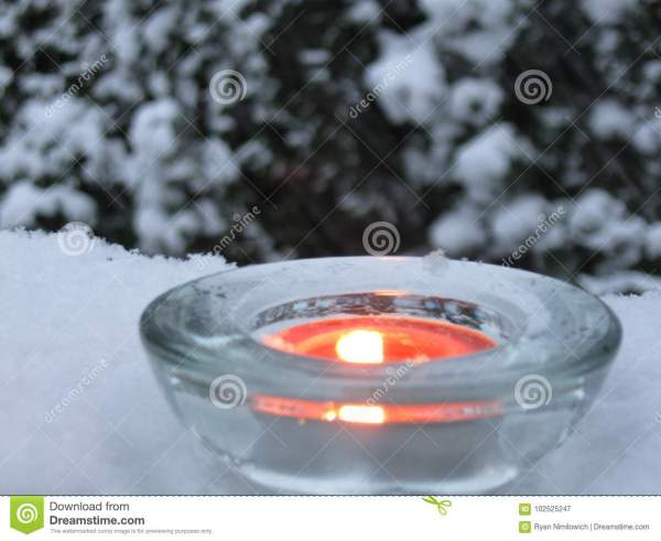 Candle light in winter stock image. Image of lone, castle ...
