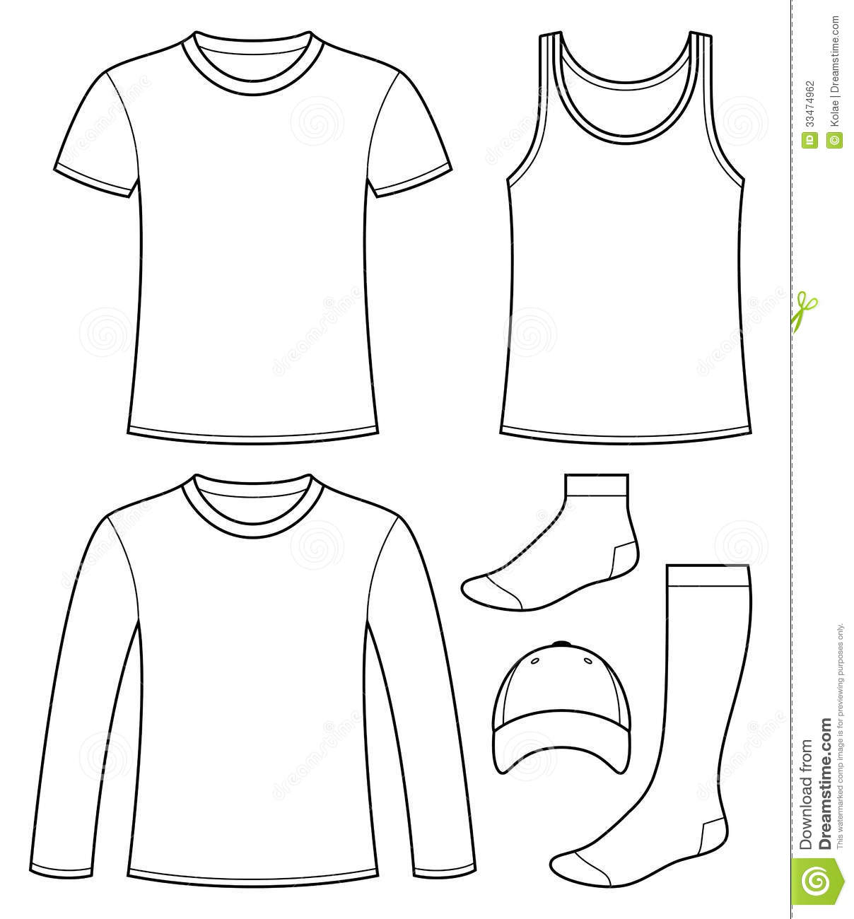 Singlet T Shirt Long Sleeved T Shirt Cap And So Stock
