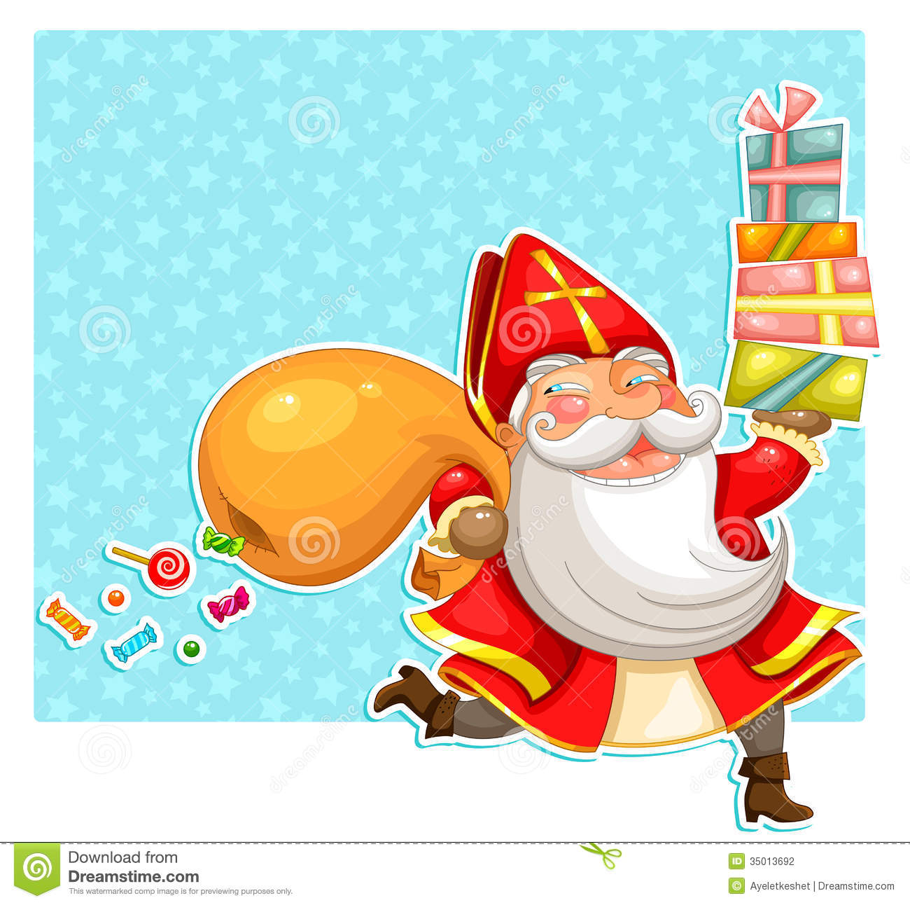 Sinterklaas With Presents Stock Photography Image 35013692