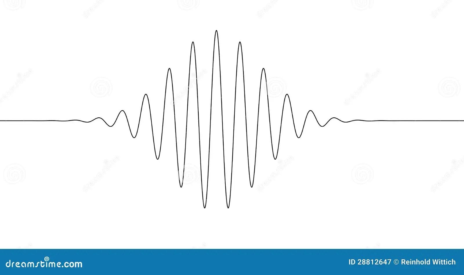 Sinus Decrease Increase Line Stock Illustration