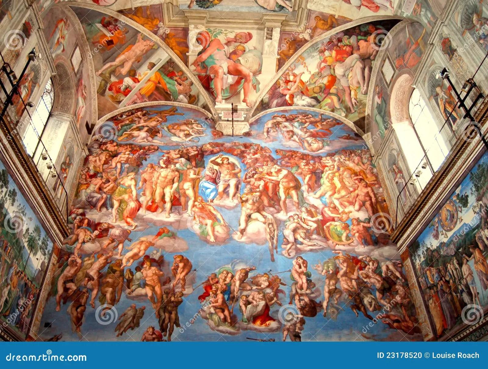 Sistine Chapel The Last Judgment Stock Photo