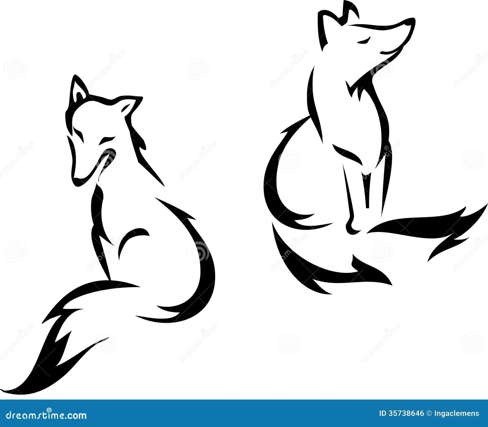 Sitting Fox Stock Vector Illustration Of Mammal Smart