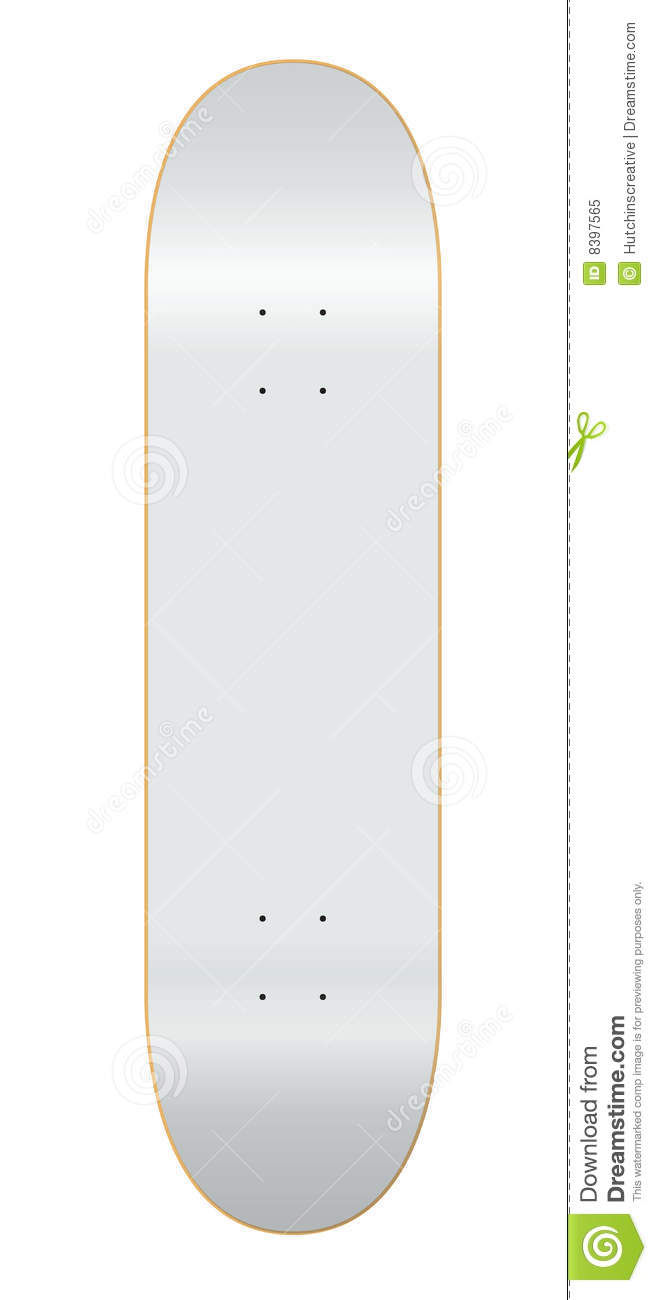 blank skateboard deck template