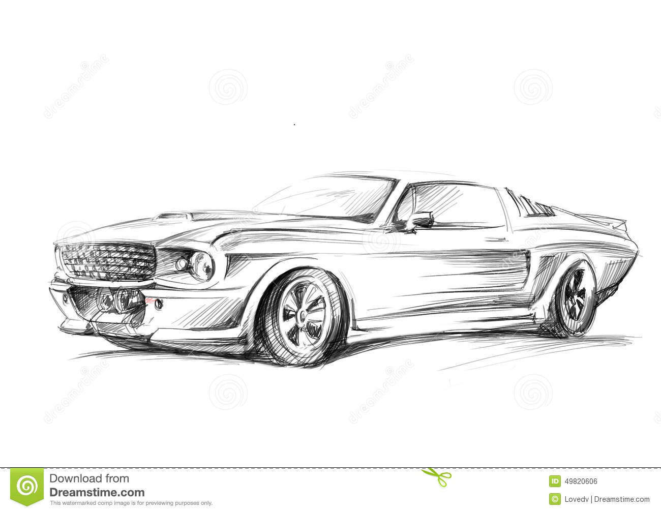 A Sketch Of A Car Stock Illustration