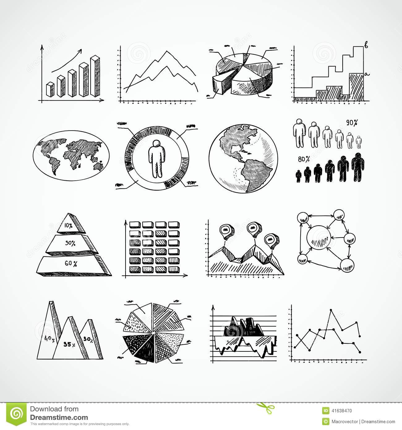 Sketch Diagrams Set Stock Vector Image Of Business