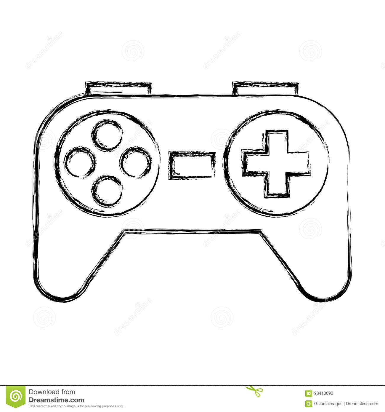 Sketch Draw Control Game Stock Vector Illustration Of
